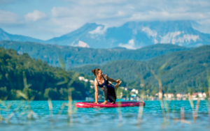 SUP Yoga, Wörthersee, Ossiacher See, Österreich, Real Good Stuff, Cathrin Niehues